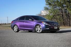 purple hyundai sonata hyundai sonata lightning ridge colorflow wrap car wrap city