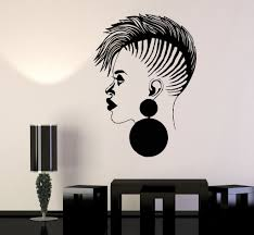 vinyl wall decal beauty salon african woman black lady stickers vinyl wall decal beauty salon african woman black lady stickers 1040ig