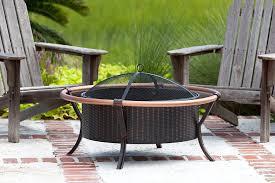 fire pit topper amazon com fire sense copper rail fire pit garden u0026 outdoor