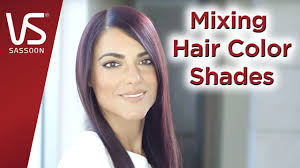 salonist hair color tips mixing hair color shades vidal sassoon