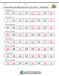 counting by tens worksheet worksheets