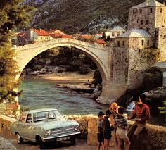 1970 opel 1970 opel kadett at the mostar bridge 1970 opel calender mostar