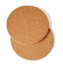 plain cork coasters round edge bangor cork