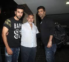 injured aamir khan visited by ranbir kapoor and karan johar