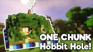 hobbit hole minecraft hobbit hole in one chunk tutorial youtube