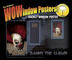 halloween window cutouts amazon com wowindow posters slammy the scary clown halloween