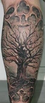 beautiful tree on leg tattoos book 65 000 tattoos designs