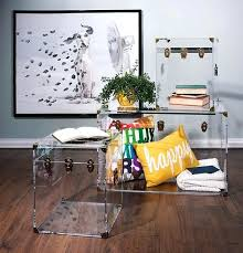 Acrylic Accent Table Acrylic Trunk Coffee Table Trunk Coffee Table And Acrylic Accent