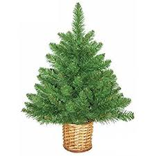 mini artificial tree with wicker basket 2ft 60cm