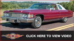 1974 cadillac coupe deville 12 000 original miles sold youtube