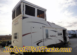 Open Range Travel Trailer Floor Plans by 2009 Outback Loft 27t A Full Two Story Bumper Pull Toy Hauler
