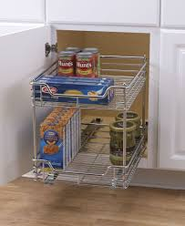 2 tier cabinet organizer household essentials chrome 2 tier glidez sliding under cabinet
