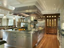 stainless steel commercial kitchen cabinets brown wooden kitchen