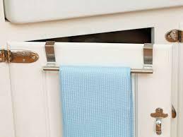kitchen towel bars ideas kitchen cabinet door towel rack monsterlune