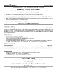 exle of manager resume inventory management coordinator resume sales inventory