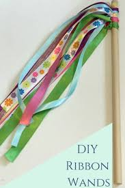 ribbon wands diy ribbon wand with