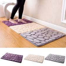 Bathroom Memory Foam Rugs Nc Cobble Style Pvc Bathroom Memory Foam Rug Kit Toilet