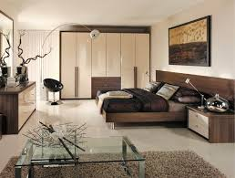 Modern Bedroom Furniture Images - contemporary bedroom with modern high gloss cream wardrobes and