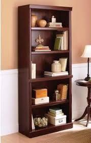 new 5 shelf cherry bookcase wooden book case storage shelves wood