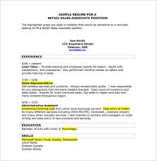 Sample Resume For Retail Position by Retail Resume Template U2013 7 Free Word Excel Pdf Format Download