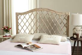 Bedroom Furniture White Washed Gabrielle White Washed Wicker Headboard Headboards Furniture By