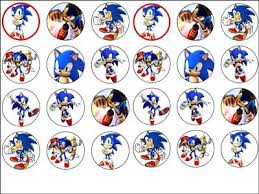 sonic the hedgehog cake topper 24 x sonic hedgehog edible wafer rice paper cup cake top toppers