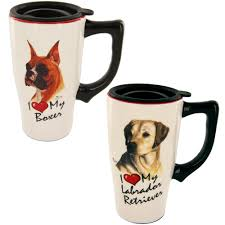 Animal Mug I Love My Dog Ceramic Travel Mug The Animal Rescue Site