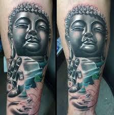religious buddhist design on legs