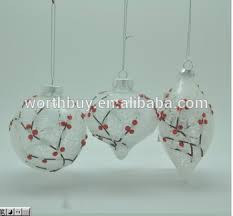 100 wholesale clear glass ornaments winter sweet