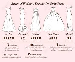 different wedding dress shapes set of wedding dress styles for shape types wedding