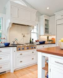 custom range hoods kitchen traditional with glass front cabinets