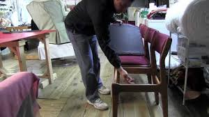 Reupholstering A Dining Room Chair How To Upholster Dining Room Chairs Mov Youtube
