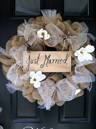 wedding wreaths wedding wreath just married wreath wedding decor by jennycmoon