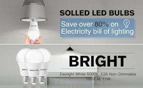 daylight led light bulbs solled a19 led bulb led light bulbs 100w equivalent 11w daylight