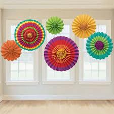 paper fans diy diy handcraft paper fan stripe dot wheel disc party wall