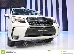 subaru white 2016 bangkok march 31 subaru forester 2 0 xt on white car at the