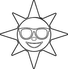 happy glasses sun star coloring page wecoloringpage
