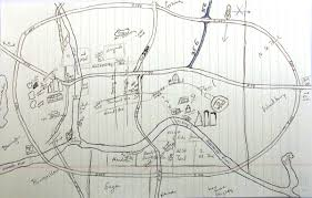 Twin Cities Map This Is The Hand Drawn Map Association An Ongoing Archive Of
