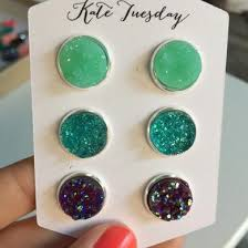 sweet and sassy earrings druzy earrings kate tuesday jewelry