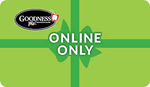 gift card online goodness me gift card offer free shipping in canada