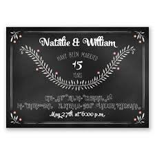 chalkboard art anniversary invitation invitations by dawn