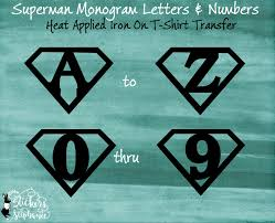 iron on monogram initials iron on superman monogram letter t shirt transfer