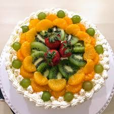 baked a hong kong bakery style fresh fruit cake for dad u0027s birthday