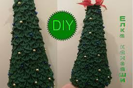 ёлка канзаши diy kanzashi christmas tree marineguloyan christmas