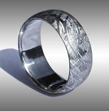 meteorite mens wedding band meteorite rings and meteorite wedding bands