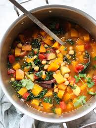 moroccan soup with kale and chickpeas plus 5 vegetarian soups that