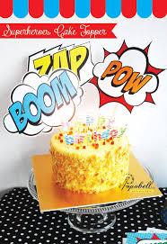 superhero cake topper for avengers birthday party in 3 designs