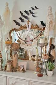 Vintage Halloween Decor 35 Fall Mantel Decorating Ideas Halloween Mantel Decorations
