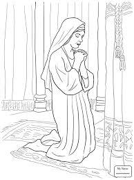 Hannah Prays For A Son Prophet Samuel Christianity Bible Prophet Samuel Coloring Pages