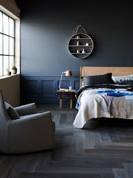 Blue Feature Wall In Bedroom Daring To Go Dark How To Bring A Designer Edge To Your Home